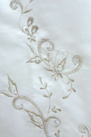 bead embroidery: Wedding dress embroidery