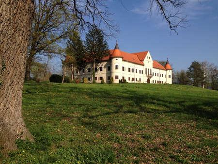 castle conditioning: Luznica manor in Zapresic, Croatia Stock Photo