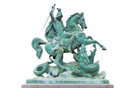 St. George killing the Dragon statue in Zagreb, Croatia