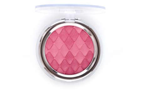 blush: Pink blush isolated on white Stock Photo