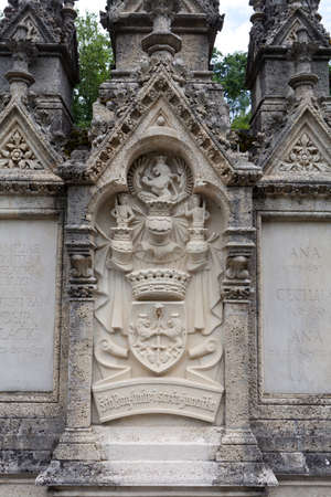 viceroy: Detail of the Mausoleum and resting place of Croatian historic figure Ban Jelacic in Zapresic, Croatia Stock Photo