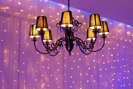 lustre: Elegant chandelier Stock Photo