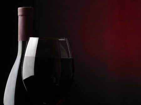 bottle with a wineglass Stock Photo - 13204846