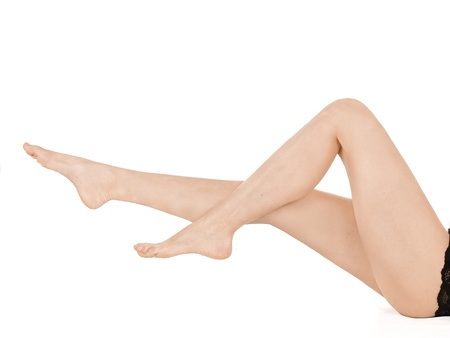 Classic Female Leg Posing, isolated on white