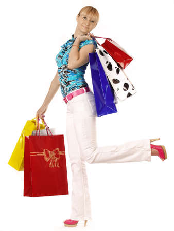 Beautiful woman with shopping bags Stock Photo