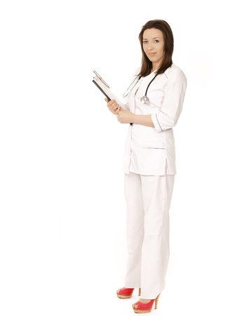full body female doctor photo