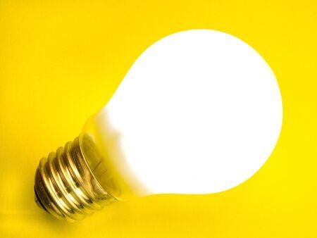 A bulb on an background