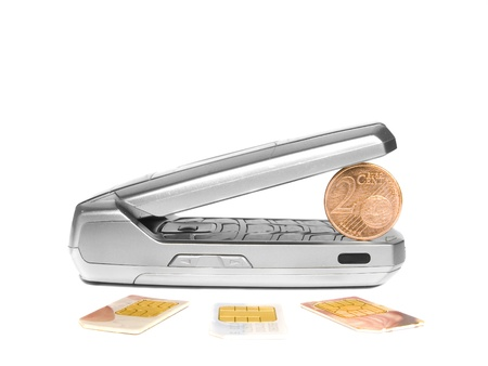 mobile phone and coin