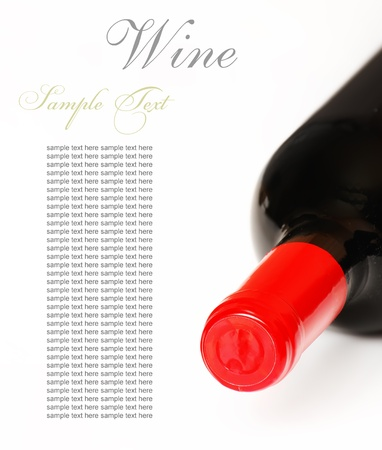 Bottle of wine isolated on white background  photo