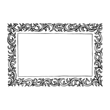 Frame. Vintage style hand drawn vector frame. Vetores