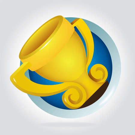 Winner cup. Trophy vector illustration. 矢量图像
