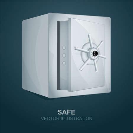 Safe Metal safe realistic vector illustration. Part of set.
