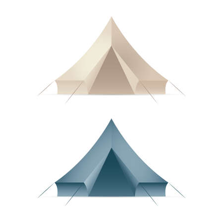 Tent. Touristic camping tent vector illustration. Part of set.