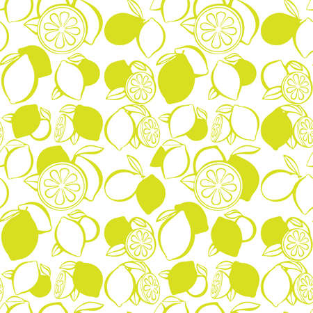 Lemons seamless pattern. Citrus endless background. Lemons background texture for print, textile, wrapping paper, wallpaper cover and design. Part of set.