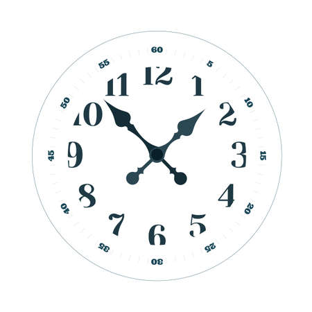 Clock face vector illustration. Time concept. Part of set.