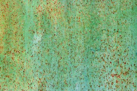 Green rusty metal texture. Vintage effect.