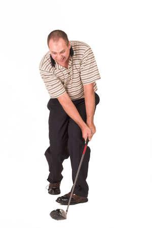 temper: Golfer loosing his temper