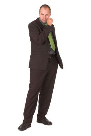 Businessman modelling photo
