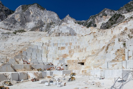 quarry of white marble photo