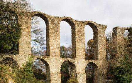 Roman aqueduct photo