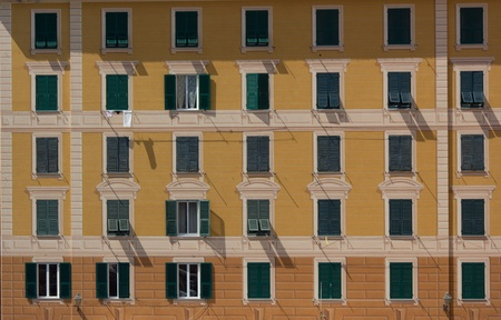 elevation: elevation of a building in Camogli