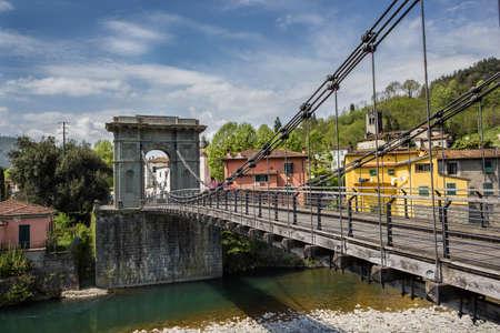 Tuscany, the Chain Bridge in Bagni di Lucca photo