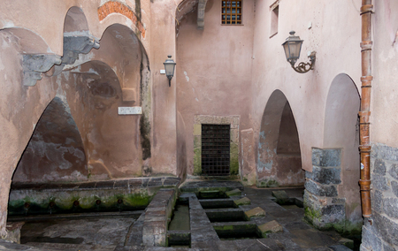 the public wash known as medieval wash-house, is located within the old city walls photo