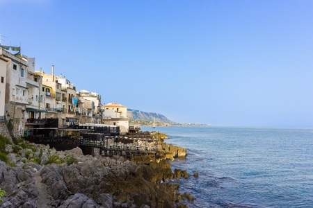 panoramic view of the city of Cefalu, beauty of the sea in Sicily photo