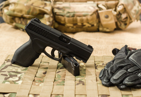 the gun is a firearm that makes think of the violence and nis defense