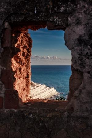 scala: stairs Turks Sicilian coast near Agrigento Stock Photo