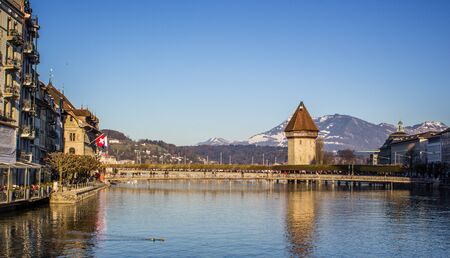 Lucerne is a city in central northern Switzerland in the German-speaking area photo