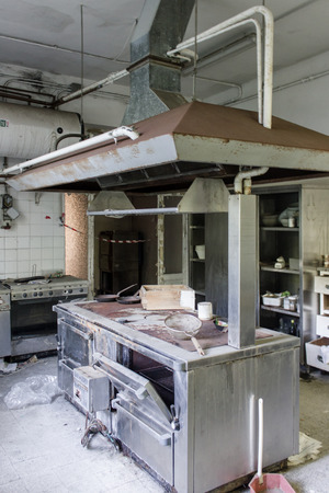 abandonment: Building degraded due to the abandonment and neglect of the time Stock Photo