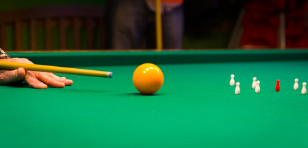 snooker halls: The carambola is the main specialty of the game of billiards.