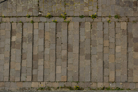 empedrado: Tuscany, road paved in stone with relief for wheels