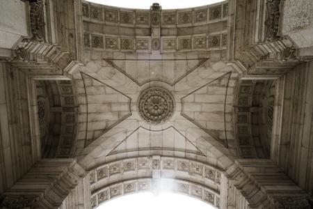 augusta: A Rua Augusta � o centro da cidade de Lisboa, com v�rias lojas das mais famosas marcas internacionais. Stock Photo