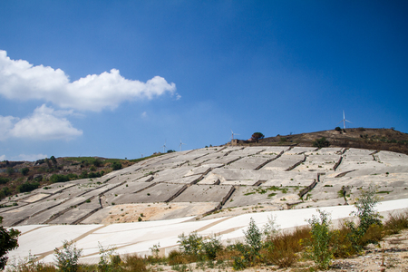 Gibellina, destroyed by earthquake in 1968, is now known for artistic work of Alberto Burri Cretto Burri Stock Photo