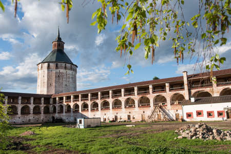 backwoods: Kirillov of Vologda region, Russia May 24, 2015: Old Russian Cyril Belozersky monastery, an architectural monument of the 15th century