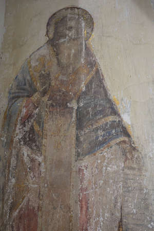 uglich russia: Uglich, Yaroslavl region, Russia - June 1, 2015: Fresco of Epiphany Monastery