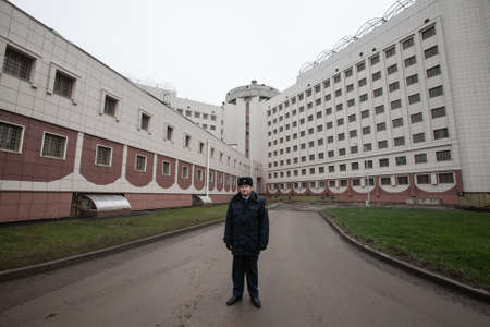 incarcerate: St. Petersburg, Russia December 3, 2015: Federal Penitentiary Service held a press tour for journalists - has introduced a new detention facility Crosses 2