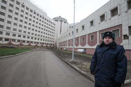 St. Petersburg, Russia December 3, 2015: Federal Penitentiary Service held a press tour for journalists - has introduced a new detention facility Crosses 2