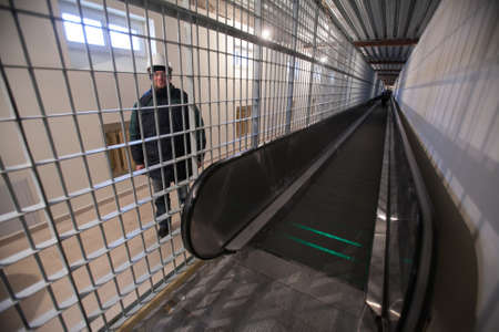 remand: St. Petersburg, Russia December 3, 2015: Federal Penitentiary Service held a press tour for journalists - has introduced a new detention facility Crosses 2