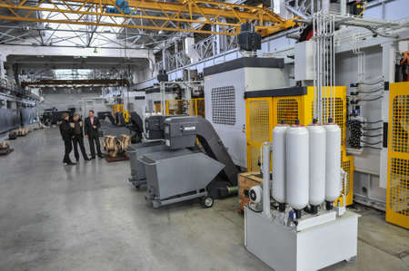St. Petersburg, Russia - February 13, 2010: The Armalit factory produces ship armature for shipbuilding companies.