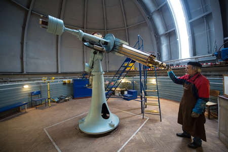 St. Petersburg, Russia - October 11, 2016: The Pylkovsky Observatory (GAO RAS) is the main astronomical observatory of the Russian Academy of Sciences. Editorial