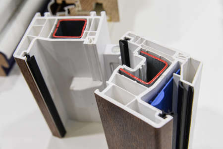 demonstration of opening and closing of plastic and wooden windows on a sample of profiles. Demonstration of the quality of manufacturing parts and their functionality.