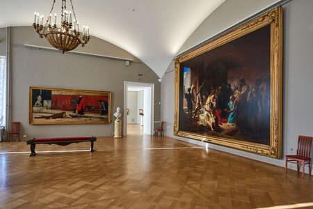 St. Petersburg, Russia-February 17, 2015: Permanent exhibition of the State Russian Museum. Bruhl's painting