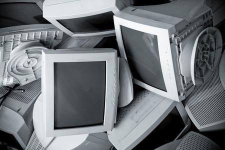 Old broken monitors. The Scramble. Conversion Stock Photo - 8328009