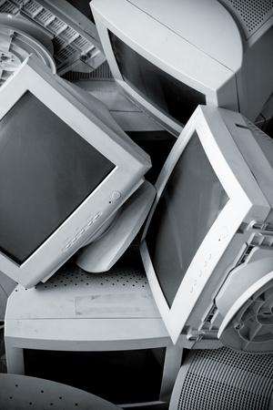 old technology: Vecchio rotto monitor. La corsa. Conversione