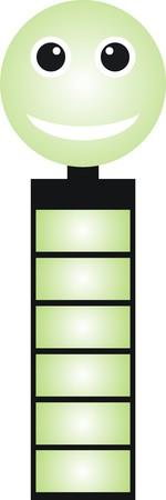 troop: Design battery. Illustration