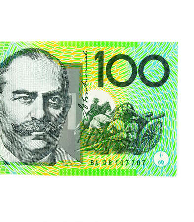 Close up of australian hundred dollar banknote Stock Photo