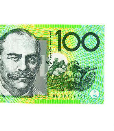 Close up of australian hundred dollar banknote Stock Photo